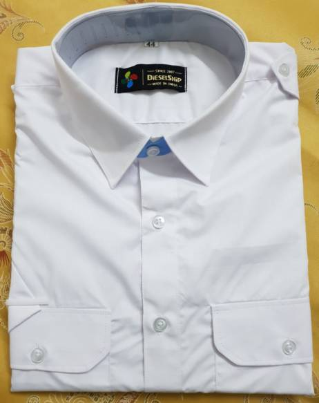 MERCHANT NAVY UNIFORM WHITE SHIRT FULL SLEEVE